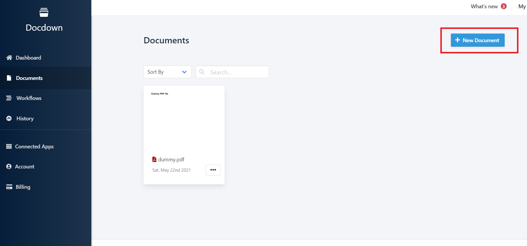 adding document in docdown