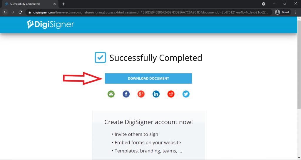 Digisigner download page image
