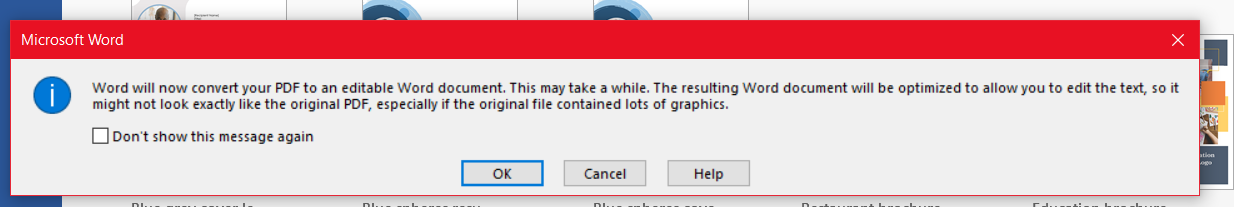 Image of warning mentioned in wiriting