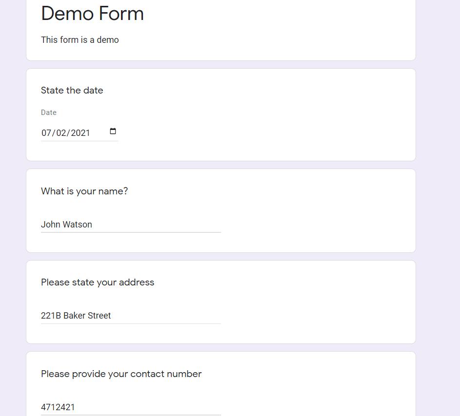 filling form image